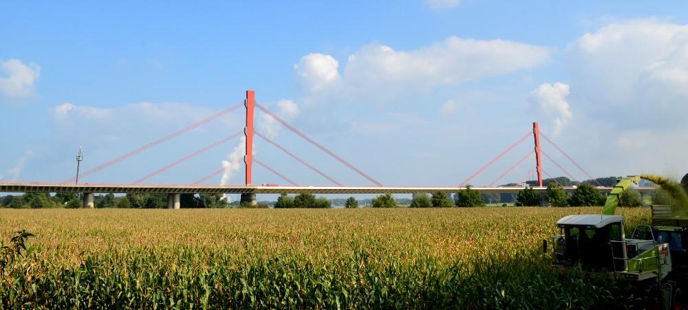 Rheinbrücke bei Duisburg