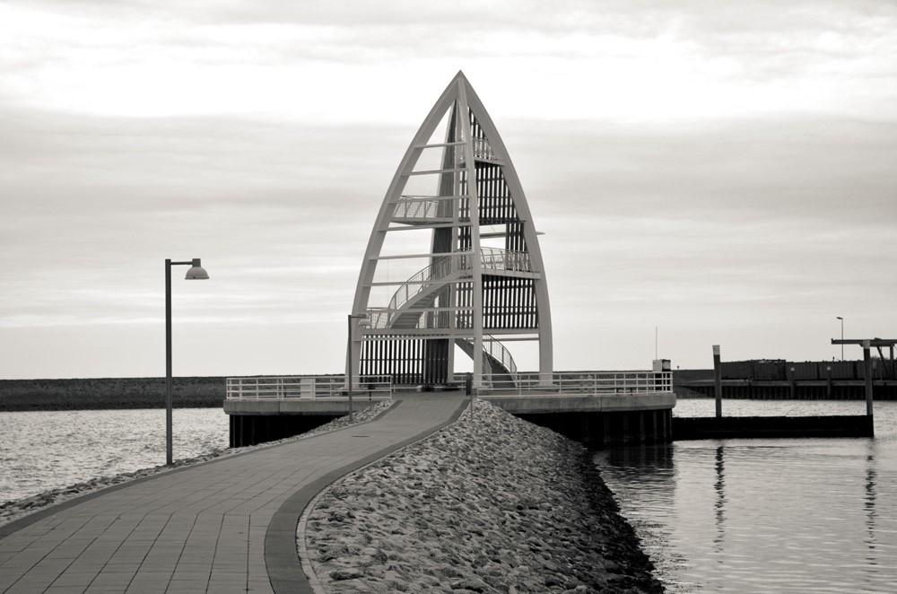 Seezeichen am Hafen